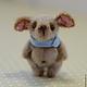 Мишки Тедди ручной работы. Ярмарка Мастеров - ручная работа. Купить собачка Мушка. Handmade. Бежевый, мех для миниатюры