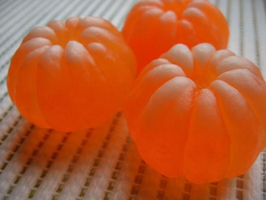 Мыло ручной работы. Ярмарка Мастеров - ручная работа. Купить МЫЛО  МАНДАРИНЧИК  ОЧИЩЕННЫЙ. Handmade. Оранжевый, сувенирное мыло, мандариновое
