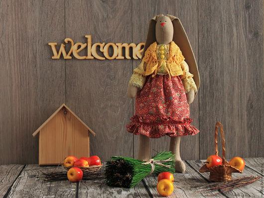 Песочная зайка игрушка Агаша (Тильда заяц) Автор: Mallpa (Елена) Замечательная игрушечная зайка Агаша. Это замечательная детская мягкая игрушка из ткани для ребенка - обаятельная зайка тильда.