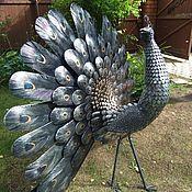 Для дома и интерьера ручной работы. Ярмарка Мастеров - ручная работа павлин садово-парковая скульптура кованая птица счастья. Handmade.