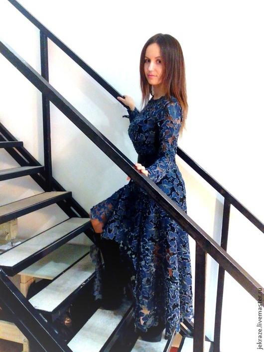 Платья ручной работы. Ярмарка Мастеров - ручная работа. Купить Платье из креативной джинсы. Handmade. Тёмно-синий, женственный