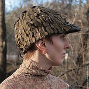 """Кепки ручной работы. Ярмарка Мастеров - ручная работа """"Слиться с природой"""" войлочная арт-кепка. Handmade."""