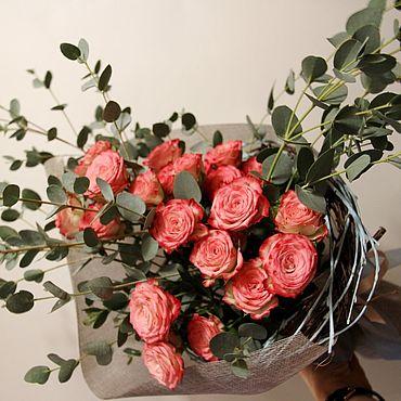 """Цветы и флористика ручной работы. Ярмарка Мастеров - ручная работа Букет """"Халей""""  Живые цветы. Handmade."""