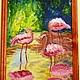 Животные ручной работы. Зной. Елена Масловская (ginnig). Интернет-магазин Ярмарка Мастеров. Розовый цвет, картина маслом