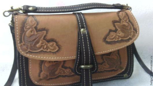 Женские сумки ручной работы. Ярмарка Мастеров - ручная работа. Купить сумка кожаная  Д3 (сумка из кожи). Handmade. Бежевый