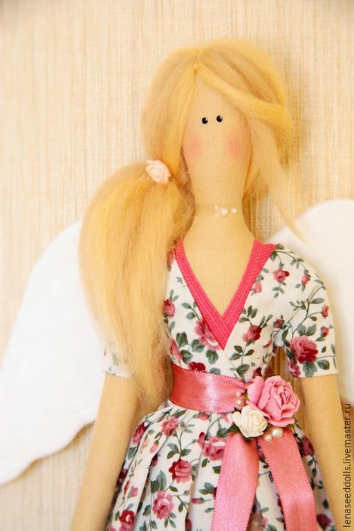 Куклы Тильды ручной работы. Ярмарка Мастеров - ручная работа. Купить - Ангел НАТАЛИ - тильда. Handmade. Розовый, кукла текстильная