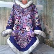 Одежда handmade. Livemaster - original item Poncho hooded scarf from pablopicasso. Handmade.