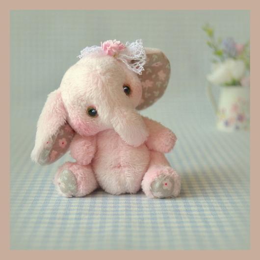 Мишки Тедди ручной работы. Ярмарка Мастеров - ручная работа. Купить Грушенька  (6,5 см). Handmade. Бледно-розовый
