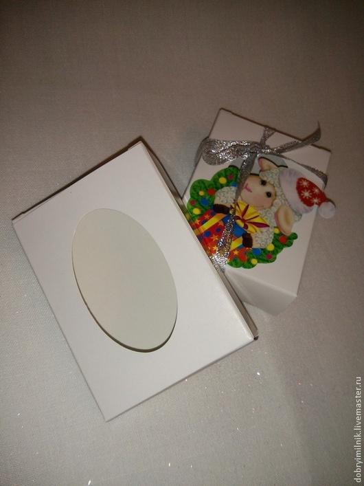 Упаковка ручной работы. Ярмарка Мастеров - ручная работа. Купить Коробочка картонная с окошком. Handmade. Белый, подарок, картон белый