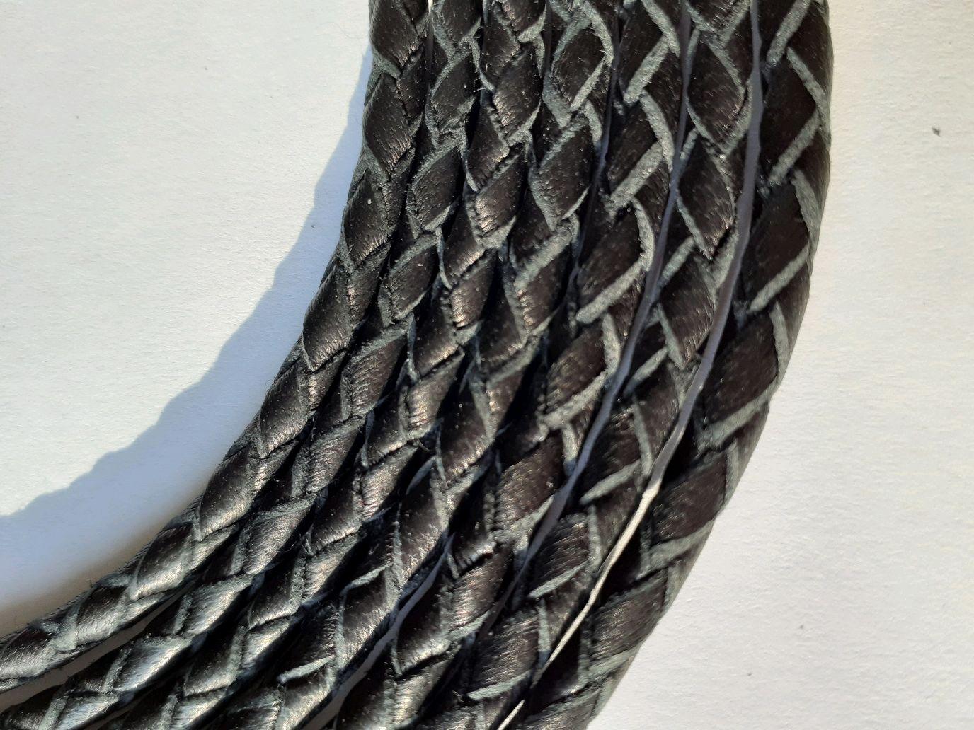 Кожаный плетёный шнур (гайтан), Шнуры, Волжский,  Фото №1