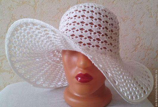 Шляпы ручной работы. Ярмарка Мастеров - ручная работа. Купить Шляпа для Вас!!!. Handmade. Белый, белая шляпа, шляпа с полями