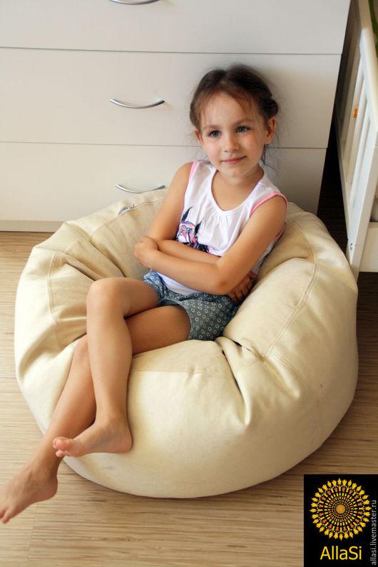 Мебель ручной работы. Ярмарка Мастеров - ручная работа. Купить Пуф - подушка , кресло груша, биг бен, пенопластовые шарики. Handmade.