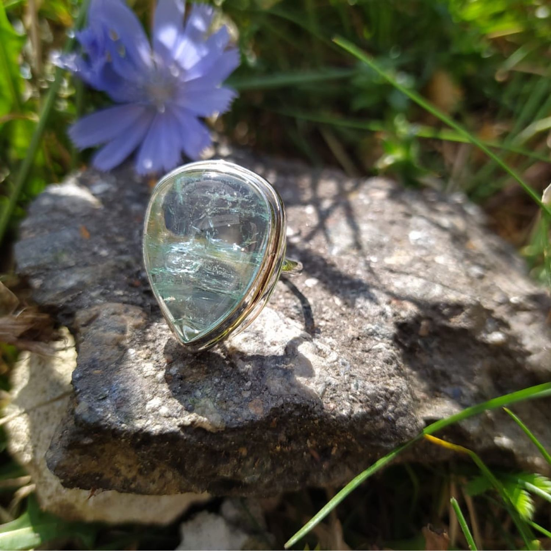 Серебряное кольцо с аквамарином, Кольца, Москва,  Фото №1