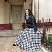 """Одежда handmade. Livemaster - original item Юбка-тартан длинная в пол с карманом """"Лель""""теплая. Handmade."""