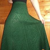 Одежда ручной работы. Ярмарка Мастеров - ручная работа Юбка цвета изумрудной травы. Handmade.
