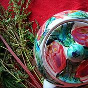 Посуда ручной работы. Ярмарка Мастеров - ручная работа РОЗЫГРЫШ!!!Аленький цветочек,. Handmade.