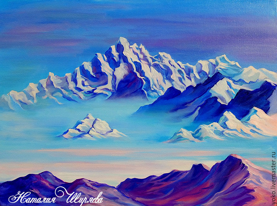 The picture with the mountains 'Soaring Himalayas' oil on canvas, Pictures, Voronezh,  Фото №1