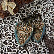 Украшения ручной работы. Ярмарка Мастеров - ручная работа серьги Патина на Бронзе. Handmade.