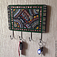 Мозаичная ключница `Коврик`