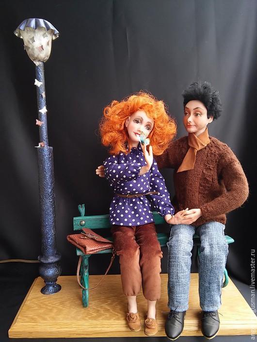 Коллекционные куклы ручной работы. Ярмарка Мастеров - ручная работа. Купить Авторские художественные куклы композиция Счастливы вместе. Handmade.