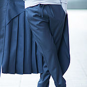 Одежда handmade. Livemaster - original item Fashionable pants with pockets, figure - PA0751CW. Handmade.