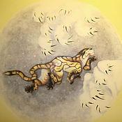 """Дизайн и реклама ручной работы. Ярмарка Мастеров - ручная работа Роспись стены в прихожей """"Тигр в снегу"""". Handmade."""