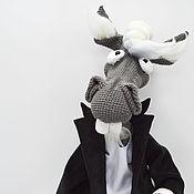 Мягкие игрушки ручной работы. Ярмарка Мастеров - ручная работа Конь в пальто, вязаная интерьерная игрушка. Handmade.