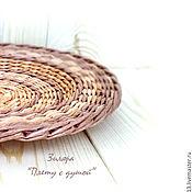 Посуда ручной работы. Ярмарка Мастеров - ручная работа Тарелка плетеная, тарелка на стену. Handmade.