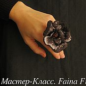 Материалы для творчества handmade. Livemaster - original item MK Cocktail ring-flower. Handmade.