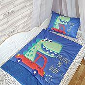Пледы ручной работы. Ярмарка Мастеров - ручная работа Комплект в детскую кроватку для новорожденных. Handmade.