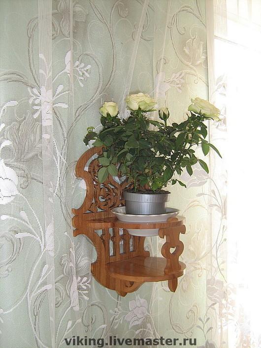 """Мебель ручной работы. Ярмарка Мастеров - ручная работа. Купить Полочка для цветов """"Балкончик"""". Handmade. Полочка, для кухни, кашпо навесное"""
