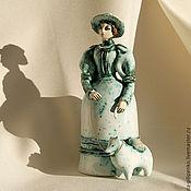 """Колокольчики ручной работы. Ярмарка Мастеров - ручная работа """"Дама с собачкой"""" ( к/ф """"Дама с собачкой""""). Handmade."""