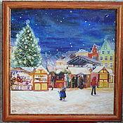 Картины и панно ручной работы. Ярмарка Мастеров - ручная работа Рождественская ярмарка в Таллине. Handmade.