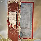 Открытки handmade. Livemaster - original item Card diploma with jubilee. Handmade.
