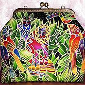 Сумки и аксессуары ручной работы. Ярмарка Мастеров - ручная работа сумка Котоматрица в джунглях. Handmade.