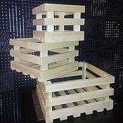 Для дома и интерьера ручной работы. Ярмарка Мастеров - ручная работа Ящички из дерева. Набор из 3 штук. Handmade.