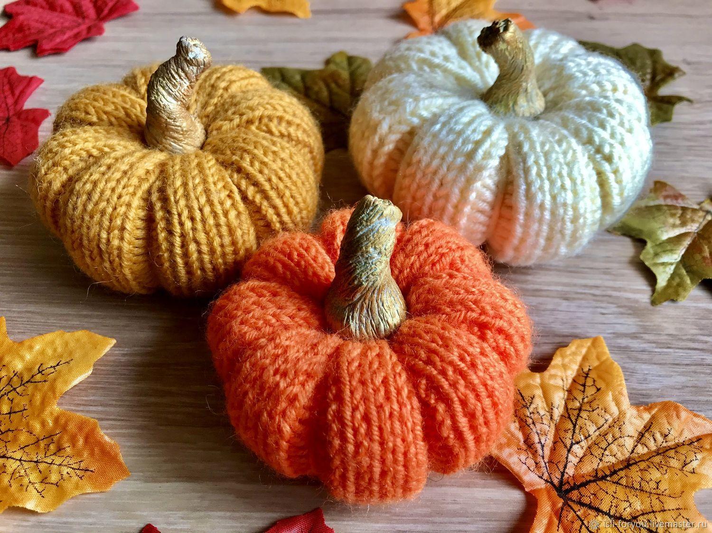 knitted pumpkins, Interior elements, Voronezh,  Фото №1