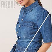 Одежда handmade. Livemaster - original item Women`s jumpsuit 100% cotton Jumpsuit blue summer. Handmade.