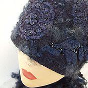 Аксессуары ручной работы. Ярмарка Мастеров - ручная работа Шапка женская валяная Зимняя ночь. Handmade.