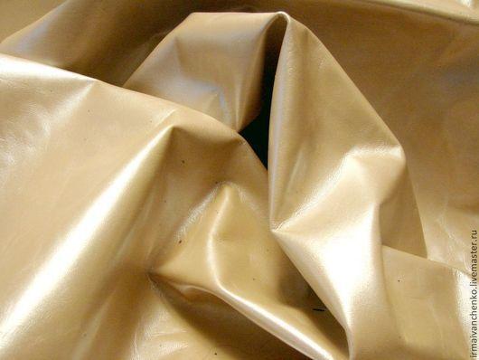 Другие виды рукоделия ручной работы. Ярмарка Мастеров - ручная работа. Купить Кожа светло-бежевая, перламутровая ( галантерейная). Handmade.