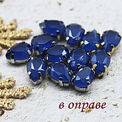 Материалы для творчества handmade. Livemaster - original item Rhinestones drops 7/10 mm Sapphire lacquer. Handmade.