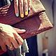 Женские сумки ручной работы. Ярмарка Мастеров - ручная работа. Купить Клатч  из кожи питона. Handmade. Маленькая сумочка