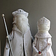 """Народные куклы ручной работы. Ярмарка Мастеров - ручная работа. Купить """"Дед Мороз и Снегурочка"""" Куклы-образы.... Handmade. Белый"""