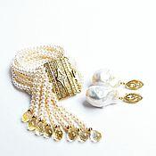 Украшения handmade. Livemaster - original item Bracelet White pearl Golden Citrine IIVORI Author`s work. Handmade.