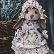 Куклы и игрушки ручной работы. Ярмарка Мастеров - ручная работа Зайка с цветами.. Handmade.