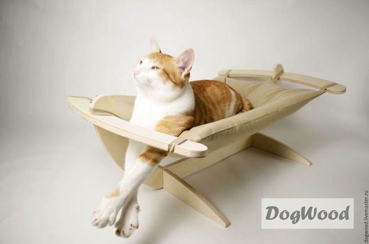 Аксессуары для кошек, ручной работы. Ярмарка Мастеров - ручная работа. Купить Гамак для кошек - Бежевый мягкий. Handmade. Гамак