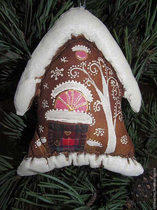 Ёлочная игрушка Домик новогодний