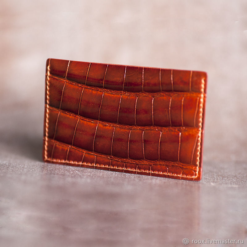 Copy of Copy of business card Holder crocodile leather, Business card holders, Moscow,  Фото №1
