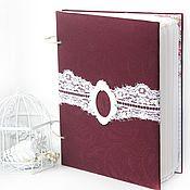 """Свадебный салон ручной работы. Ярмарка Мастеров - ручная работа Книга пожеланий """"Burgundy"""". Handmade."""