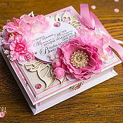 """Свадебный салон ручной работы. Ярмарка Мастеров - ручная работа Свадебная коробочка для денег """"Розовая дымка"""". Handmade."""